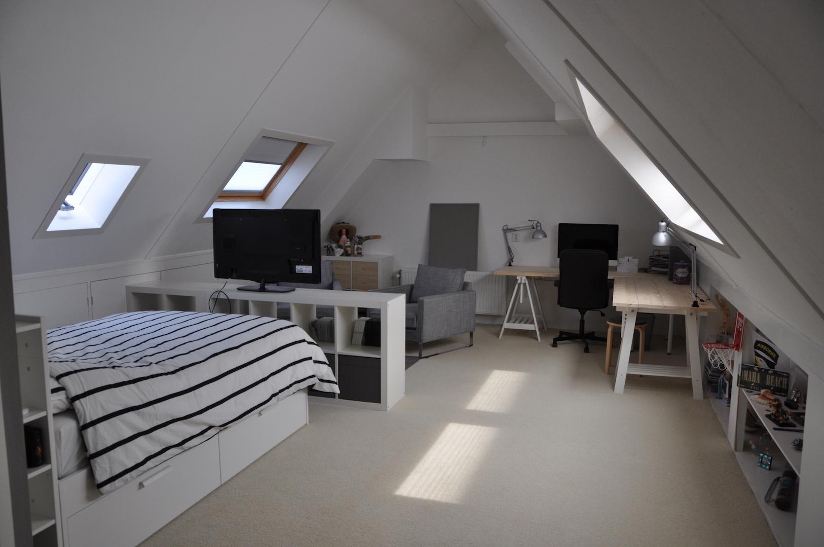 Metamorfose van een zolderkamer door Styling ID NA 2