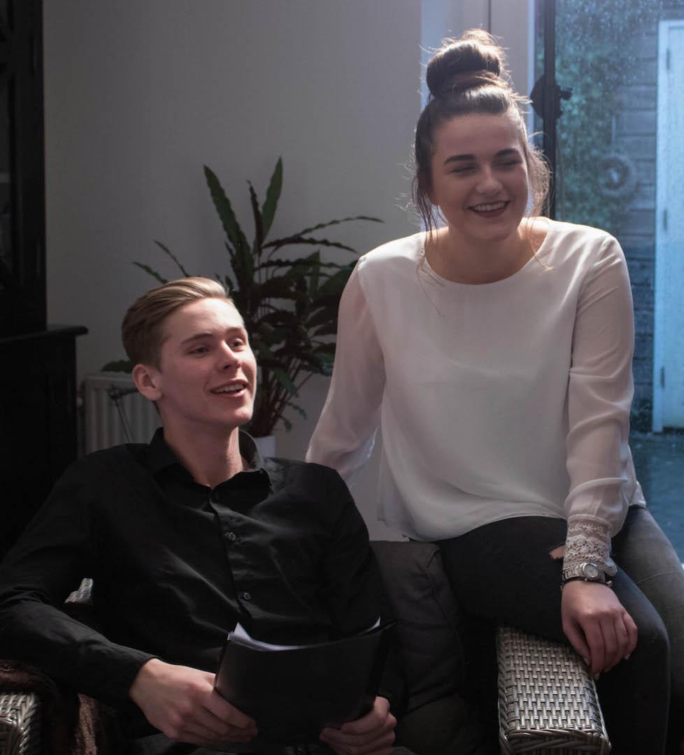 Styling ID blog: The making of The Experience Cast drama scène Tim de Kler en Laura Boeree