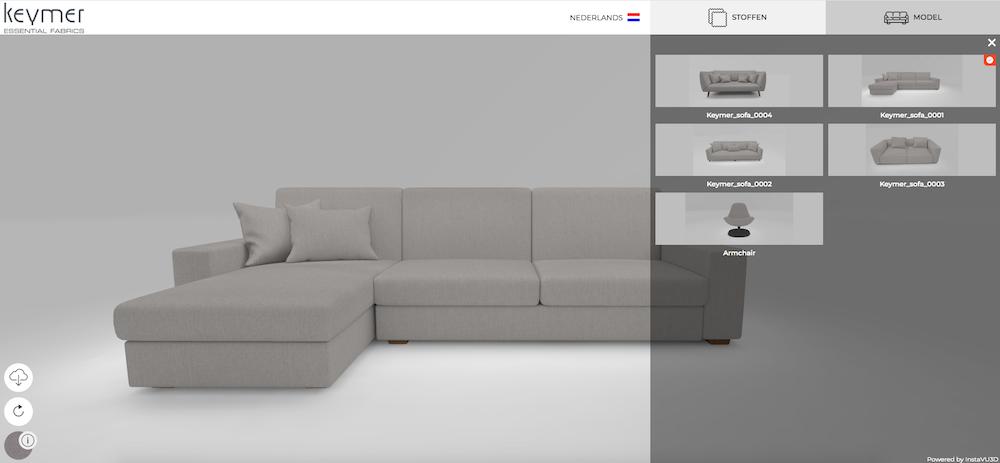 Ontwerp jouw bank met de meubelstoffen van Keymer