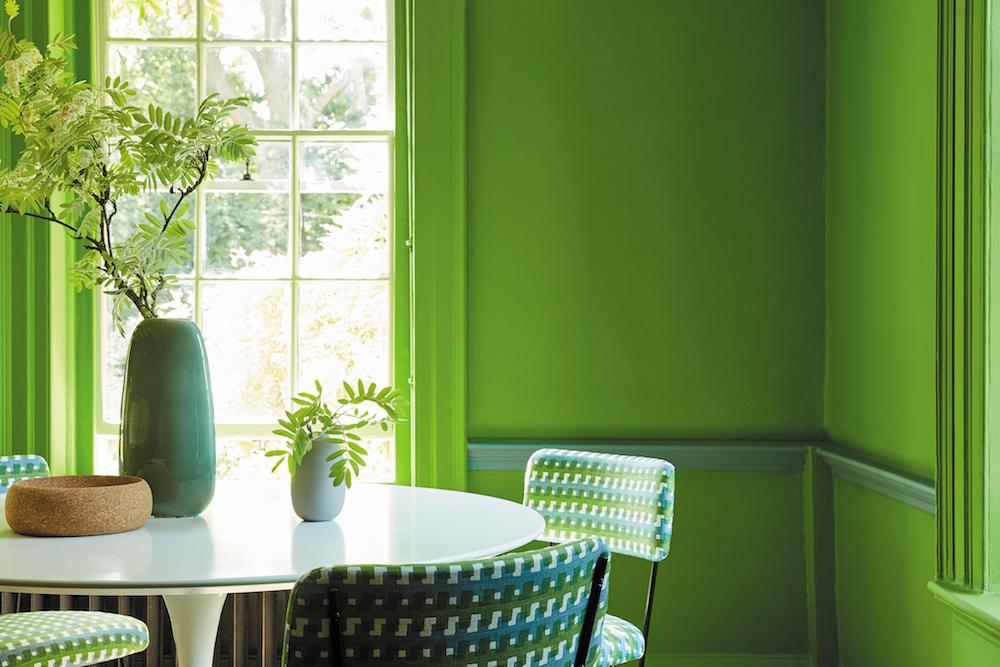 Fijne groentinten passend bij hedendaags interieur design