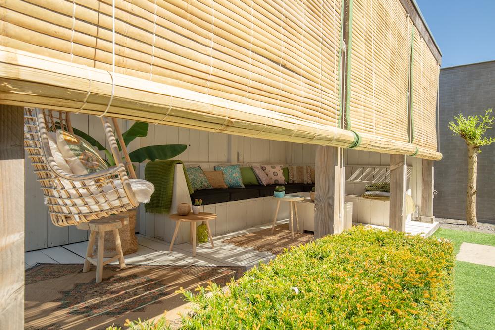Stijlvolle veranda bamboe zonwering
