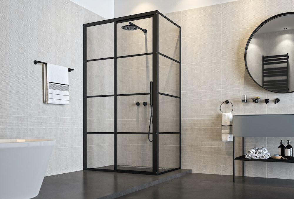 Industriële schuifdeuren voor de douche